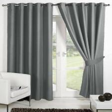 New Polyester 2 Piece Door Curtain Set - Grey, 4 x 7 ft