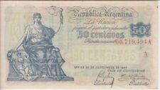 ARGENTINA BANKNOTE P242-494A  50 CENTAVOS SUFFIX A, VF