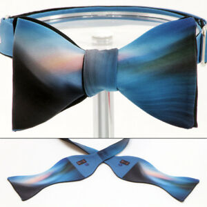 "UNIQUE DESIGNER BOW TIE ""PASTEL SEA"" Themed - Handmade by Remarkable Bowties"