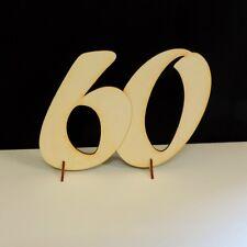Diamantene Hochzeit Geburtstag Jahreszahl 60 Geschenk 15cm aus Holz Jubiläum