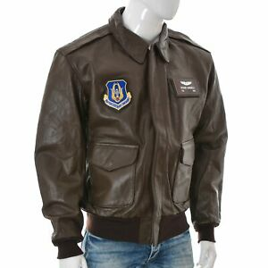 Cockpit Men US Army Air Force Type A-2 Leather RICHARD SIGNORELLI Jacket 46R