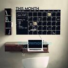 Company Month Plan Calendar Chalkboard MEMO Blackboard Vinyl Wall Sticker Vogue