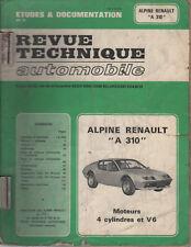 REVUE TECHNIQUE AUTOMOBILE RTA 1984 ALPINE A310 4cyl et V6
