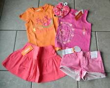 Size 4T,4 years outfit Gymboree,Bright and Beachy,NWT,tops,shorts,skort,hairtie,