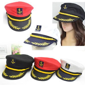 Adults Outdoor Cotton Sailor Ship Boat Captain Hat Navy Marins Admiral Cap @I