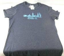 Abbott World Marathon Majors Womens T Shirt X Large Navy/Grayish/Light Blue