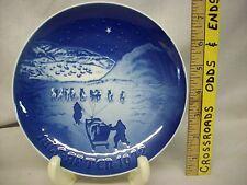 Vintage 1972 Bing & Grondahl Christmas In Greenland porcelain Plate Denmark
