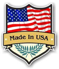 MADE in USA SCUDO design con Paese Bandiera Americana Auto Adesivo Vinile 100x85mm
