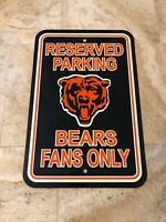 "NFL Chicago Bears Sign ""RESERVED PARKING BEARS FANS ONLY"" Gameroom"