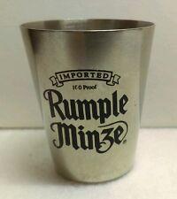 Stainless Steel Rumple Minze Advertisement Shot Glass