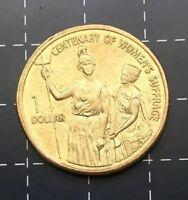2003 AUSTRALIAN $1 ONE DOLLAR COIN - CENTENARY OF WOMEN'S SUFFRAGE