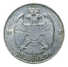 [NC] JUGOSLAVIA - 50 DINARA ARGENTO 1938 (nc4774)