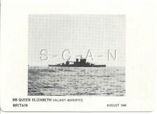 WWII Double Sided Recognition Photo Card- Navy Battleship BB Queen Elizabeth- 44