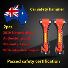 2x Mitsubishi Honda car window glass breaker hammer seatbelt cutter knife Safety