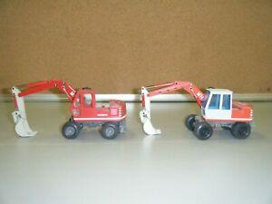 O&K MH4 Set of 2 Wheel Excavators - NZG - Mint