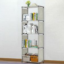 4 Shelf Bookshelf for Bedroom Dorm Room Portable Corner Bookshelf for Compact
