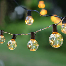 Outdoor String Lights G40 LED Garden Lights IP65 Waterproof Globe Outside NEW