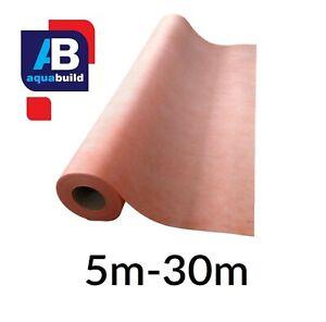 5m²-30m² AQUA BUILD Waterproof Tanking Decoupling Membrane Fleece Matting Orange
