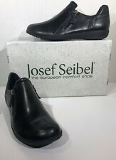 Josef Seibel Naly 32 Women's Size 9 EU 40 Black Leather Zip Casual Shoes ZC-78