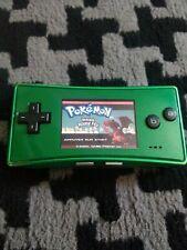 GAMEBOY MICRO GAME BOY GBA Nintendo VERT (vendu sans le jeu Pokémon ROUGE FEU)