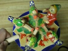Vintage Pecking Hens Wooden Toy from Russia