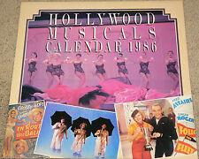 HOLLYWOOD MUSICALS 1986 CALENDAR  Classic Stars!  Classic Films!  Unused!