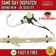 FOR KIA RIO 2000>2005 FRONT RIGHT DRIVER SIDE WINDOW REGULATOR WITH 2 PIN MOTOR
