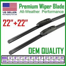 "Allstrong Best Quality 22""+22"" Windshield Wiper Blades All Weather Performance"