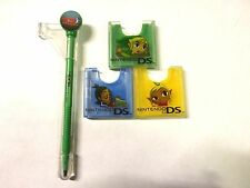 Nintendo DS DS Lite DSi Zelda Phantom Hourglass Game Card Cases Set with Stylus!