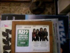 KISS-1983-U.S. CONCERT TOUR BACKSTAGE PASS-green crew nice framed lick it up