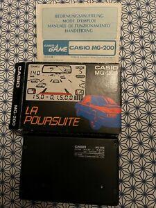"""Jeu Lcd LANSAY  Casio MG-200 """" la poursuite - tubo drive"""" genre game watch an 83"""