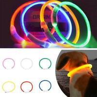 Hunde Leuchthalsband LED Halsband in 6 Farben Aufladbar Spiel ZubehÖr O5C5