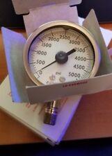 "Ashcroft 2.5"" Type 1009 Duralife Pressure Gauge 0-5000 PSI 1/4"" NPT Lower"