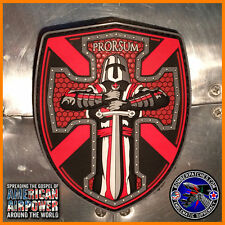 CRUSADER / KNIGHTS TEMPLAR OPERATOR PVC PATCH, 3D AND GLOW IN THE DARK DETAIL