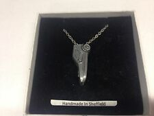 Bond Bug ref33 Car Emblem on Silver Platinum Plated Necklace 18""