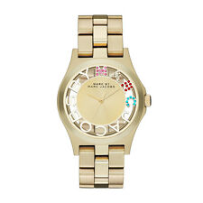 Marc Jacobs MBM3263 Gold Ladies Henry Skeleton Watch - 2 Year