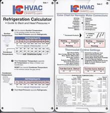 Refrigerant Guide Back + Head Pressure Temperature HVAC
