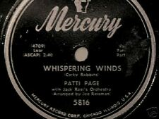 """PATTI PAGE """"WHISPERING WINDS"""" 78 RPM 1952 VERY NICE!"""