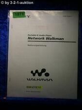 Sony Bedienungsanleitung NW E7 / E10 Network Walkman (#1971)