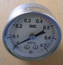 """SMC 43mm 0-0.7mpa 1/8"""" NPT Stainless Steel Pressure Gauge G43-7-N01"""