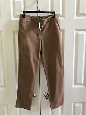 Talbots NWT Women's Cotton Blend Ankle Brown Pants Sz 2 Petite $89