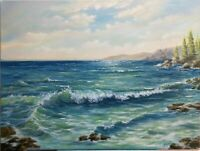 "Art 24""/18"" oil painting, Seascape, landscape,waves,"