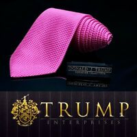 DONALD J. TRUMP~ SIGNATURE Bright Pink Checkered NECKTIE POWER TIE