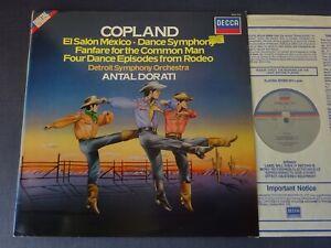 COPLAND - EL SALON MEXICO / DANCE SYMPHONY etc LP DSO, Dorati, DECCA SXDL 7547