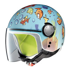 CASQUE DEMI-JET GREX G1.1 FANCY - 22 AQUARIUM BLANC TAILLE XS