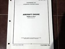 Franklin Aircooled Motors Inc O-425-1 Helicopter Engine Overhaul Manual