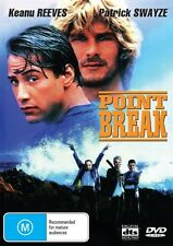 POINT BREAK - PATRICK SWAYZE - NEW & SEALED REGION 4 DVD FREE LOCAL POST