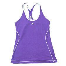 Adidas Womens Climalite Tank Top Athletic Cardio Racerback Running Shirt Cotton