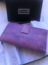 cartera de mujer de piel adapell NUEVA, CALIDAD, color lila y camel