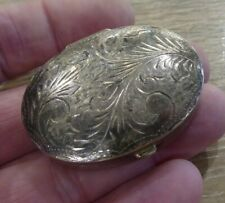 QUALITY ANTIQUE SOLID SILVER HALLMARKED PILL BOX